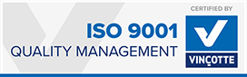 Vincotte Certified ISO 9001
